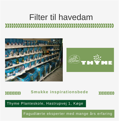 Filter til havedam Køge