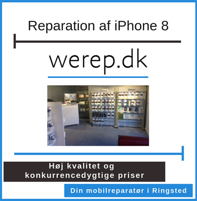 Reparation af iPhone 8 Ringsted